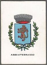 ABBIATEGRASSO 01 STEMMA ARALDICA FIGURINA BRIOSCHI anni '20 - SERIE 2.ᴬ - n.° 57