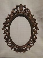 "Ornate Italian Style Vintage Oval 9""x7"" Photo Art Frame"