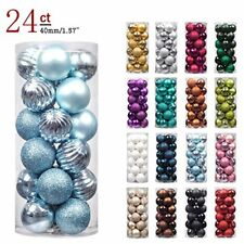 KI Store 24ct Christmas Ball Ornaments Shatterproof Christmas Decorations ..