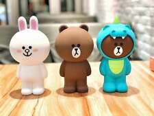 3D Cartoon Brown Bear Cony Silicone Pen Purse Wallet Case Cosmetics Makeup Bag
