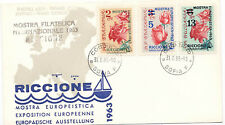 Bulgaria 1963 First Day Cover Riccione Italy Stamp Expo #1281-83 Roses Flowers