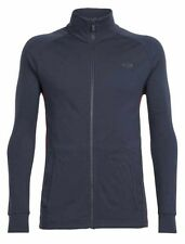 Icebreaker Otago LS Half Zip Top (L) Stealth / Oxblood / Stealth