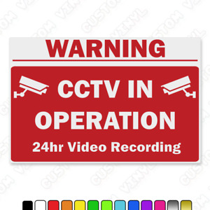 CCTV In operation sign, cctv sign, cctv recording sign, plastic cctv sign