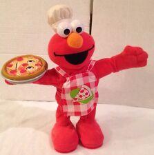 Fisher Price Sesame Street Animated Singing Pizza Elmo Sounds  Plush 2006 Talks