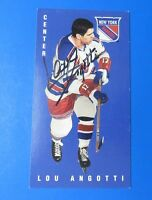 LOU ANGOTTI SIGNED 1994 PARKHURST HOCKEY CARD #96