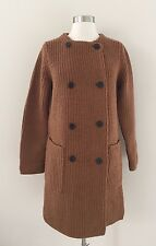 JCrew Collection Bonded Knit Sweater Coat XS Caramel Chocolate Brown f5370 $298