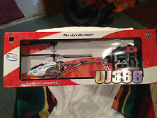 "R / C  Helicopter 17"" Gyroscopes System UJ366 Remote Control Flying Helicopter"