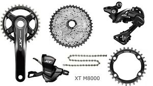 Shimano Deore XT M8000 11-speed drivetrain groupset, with 32T chainring