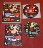 Smackdown vs Raw 2010 + WWE 2K16 PS3 Playstation 3 Game Lot Wrestling Cena Brock