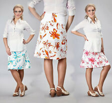 Frühling, Sommer, Umstandsrock Gr. S-XXXL blau, orange, pink, florales Muster
