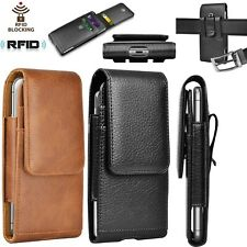 Vertical Cell Phone Holster Pouch Cases Leather Wallet Case for iphone Samsung