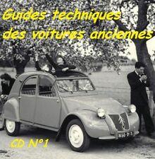 200 GUIDES TECHNIQUES de VOITURES ANCIENNES sur CD ROM N°1