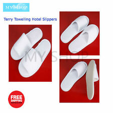 5 Pair Travel Disposable Terry Towelling Slippers Home Guest  Hotel Spa Slippers