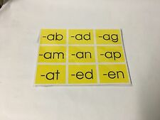 Cvc Word families - Perforated - Pocket Chart Card set