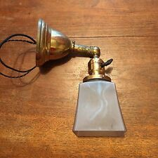 Single wired Antique Wall Sconce Fixture With Square Antique Shade 10B
