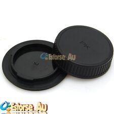 Camera Body Cover + Lens Rear Cover Cap For Pentax PK K20D K10D K200D K100 K7