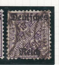 Germany 1920 Wurt. OFFICIAL Early Issue Fine Used 15pf. Optd 270849