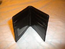 BRAND NEW BEAUTIFUL EEL SKIN BIFOLD  WALLET _ELEGANT BLACK COLOR SLIM WALLET