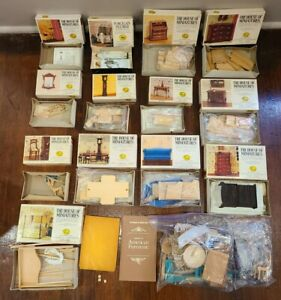 The House of Miniatures Lot of Wood Dollhouse Furniture Kits