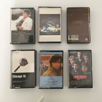 Six Vintage Popular Cassette Tapes from the 1980's