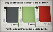 Belkin Ultra Thin Snap Shield Back Cover for Apple iPad 2 3 & 4 Black Red Green