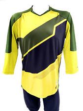 PEARL iZUMI Launch 3/4 Sleeve Jersey, Green/Yellow, Medium