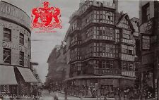 BRISTOL UK PUBLIC HOUSE~TUCK SILVERETTE SERIES POSTCARD W/ EMBOSSED COAT OF ARMS