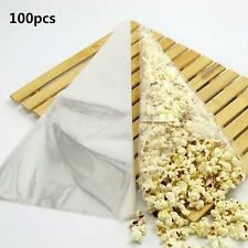 100pcs Birthday Wedding Clear Cellophone Cone Bag Sweet Candy Flower Packing Bag