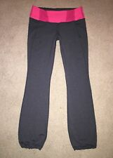 LULULEMON Tadasana Pants Paris Pink &   Gray 12 Drawstring Leg 32 Inseam EUC