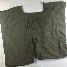 The North Face womens sz.10 roll up canvas green hiking pants