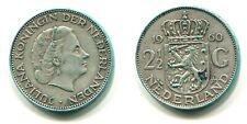 2 1/2 Gulden Niederlande 1960 Silber