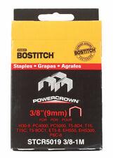 Bostitch PowerCrown 3/8in L x 7/16in W Steel Wide Crown Staples 18 Ga 1000