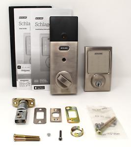 Schlage Sense Century Smart Door Lock - Satin Nickel (Open Box, For Parts) BE479