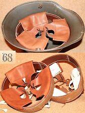 Coiffe intérieure cuir de couleur cognac  casque Allemand M16 WWI taille 68