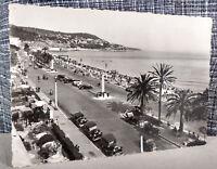 RPPC Postcard Promenade des Anglais Nice, France Antique Cars Scalloped Edge VTG