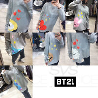 BTS BT21 Official Authentic Goods baekom T-shirts Long Sleeve 7Characters