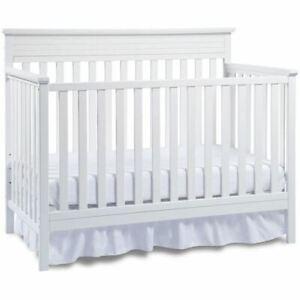 Fisher-Price Newbury 4-in-1 Convertible Crib, White