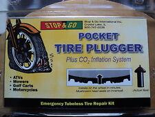 Stop and Go Tire Repair Kit ATV URV MOTORCYCLE Tubeless Tire Repair Kit PLUS CO2