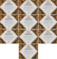 (10) Nubian Heritage AFRICAN BLACK SOAPS with Oats Aloe Vitamin E -  5 OZ Bars