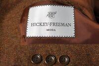 Hickey Freeman Moda Men's Rust Wool Mohair Cashmere Sport Coat Jacket Blazer 42S