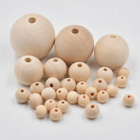 Ball Wooden Craft Natural DIY Jewelry Wood Bead Beads Spacer Unpainted Round