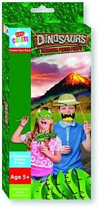 6 Dinosaur Photo Booth Props Unisex Birthday Party Selfie Accessories