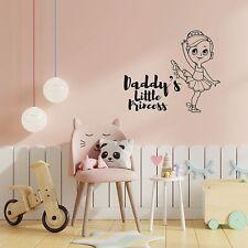 Daddy's Little Princess Playroom Kids Vinyl Art Sticker For Playhouse Wall Decal