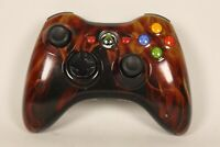 Microsoft Xbox 360 Wireless Controller Tested OEM Genuine Black with Skin