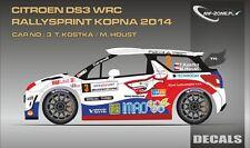DECALS 1/43 CITROËN DS3 WRC - #3 - KOSTKA - RALLYSPRINT KOPNA 2014 - D43315