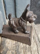 cast iron door wedge stopper scotty dog design dogs home door stop wedge