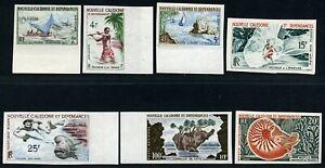 Neukaledonien 1962 Meeresfauna Fischen Sport 377-381 383-384 U Imperf MNH / 77