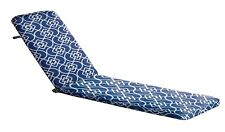 Blue Provincial Pattern Sunlounge Outdoor Comfort UV & Shower Proof Cushion Pad