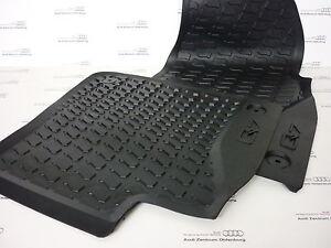 Fußmatten Audi Q7 V12 4L S-Line Original Premium Qualität Velour Weisser Rand