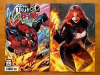 Typhoid Fever Spider-Man 1 Main + Joen Marvel Battle Lines Variant Set 2018 NM+